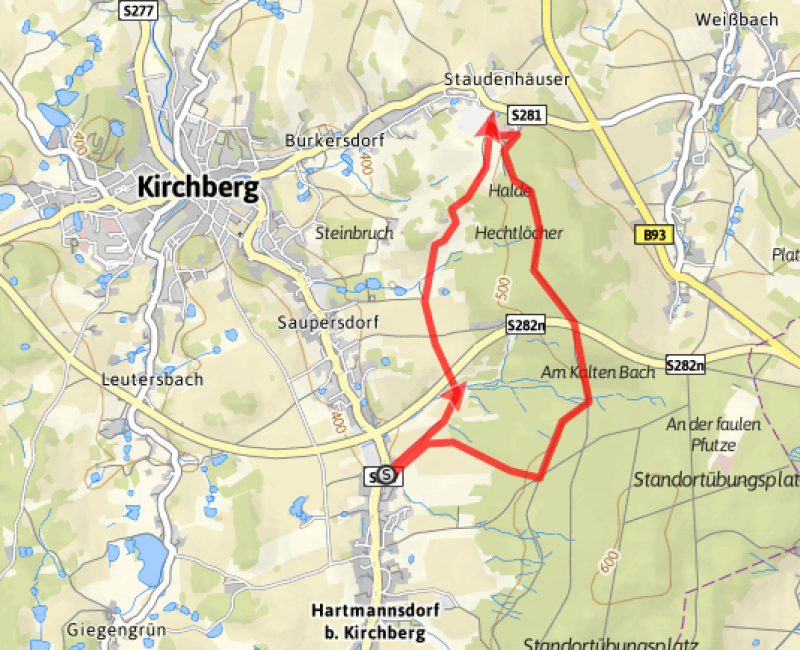 "Rundweg ""Burg Hohenforst"" 7 km"